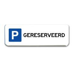 parkeerbord-gereserveerd
