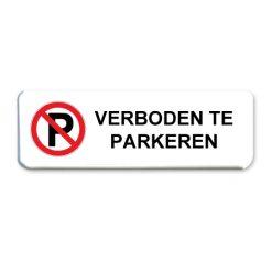 parkeerbord verboden te parkeren