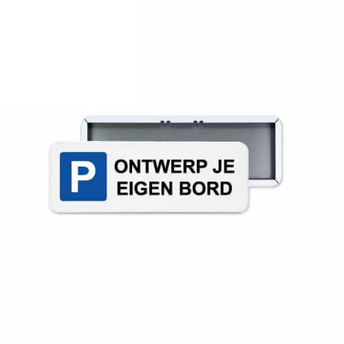 parkeerbord zelf ontwerpen