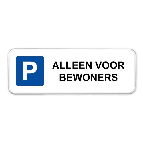 parkeerbord_alleen_voor_bewoners