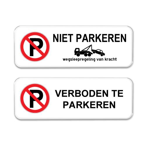 Niet parkeren borden